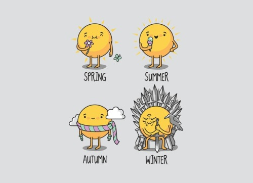 queenofmidgard:  The Seasons by Eduardo San Gil Rodriguez on Threadless
