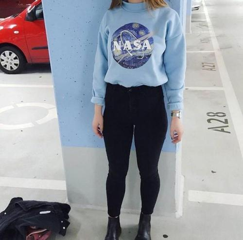 starry night mockneck discount soaestheticshop nasa space pastel pastel blue one size