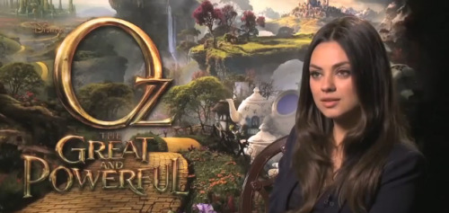 Oz The Great and the Powerful | MILA KUNIS INTERVIEW [VIDEO]