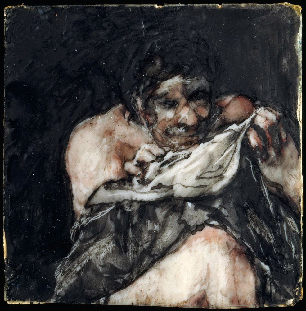 Man looking for fleas in his shirt, 1824–25Francisco Goya