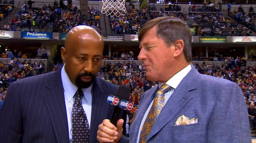 1/10/2013 - Knicks @ Pacers Craig Sager 2nd quarter interview with Mike Woodson