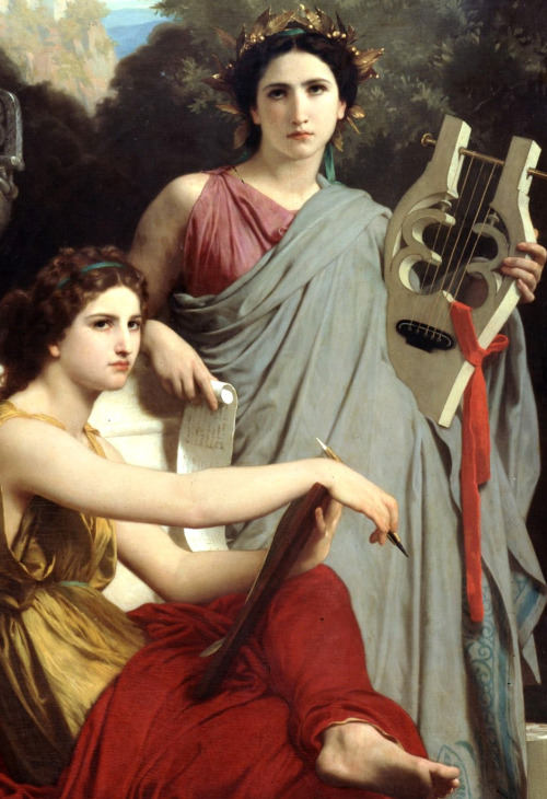 "William-Adolphe Bouguereau ""Art and Literature"" 1867."