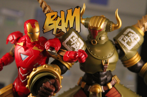 ironman vs. rock bison.
