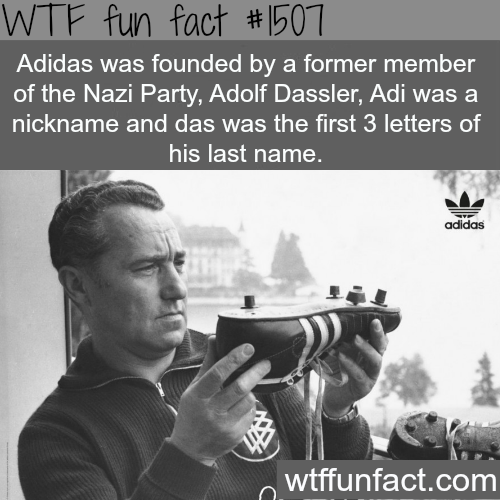 wtf-fun-factss:  Adolf Dassler, the founder of Adidas WTF FUN FACTS HOME  /  See MORE TAGGED/ History FACTS  (source)