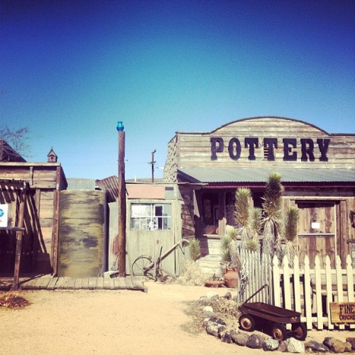 Pioneer Town, CA: an Old West motion picture set built in the 1940s.