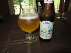 Victory Swing Session Saison - Belated Saison Sunday. Had this while we were painting our deck - an activity a lot closer to the saison farmhand roots than usual. I thought this was really good for 4.5% and given the lack of saisons in 12 oz bottles I'd buy it again.