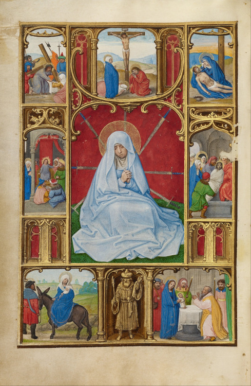signorcasaubon:  Simon Bening - The Seven Sorrows of the Virgin; The J. Paul Getty Museum, Los Angeles, California, USA; c.1525 - 1530