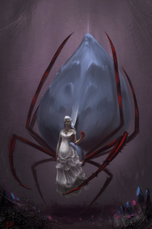 moralitea:  Lolth, the Spider Queen by *RynkaDraws