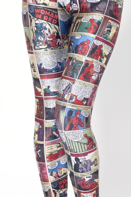 kellysue:  (via Woman in Red Ep. 2 Leggings - LIMITED | Black Milk Clothing)  I wish there was a way to get whatever comic you wanted printed on leggings. I can name a couple I'd like to wear.