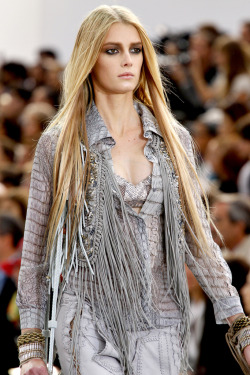 Sigrid Agren at Roberto Cavalli, spring 2011