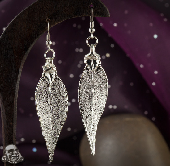 Electroplated leaf earrings http://www.bodyartforms.com/products.asp?keywords=electroplated