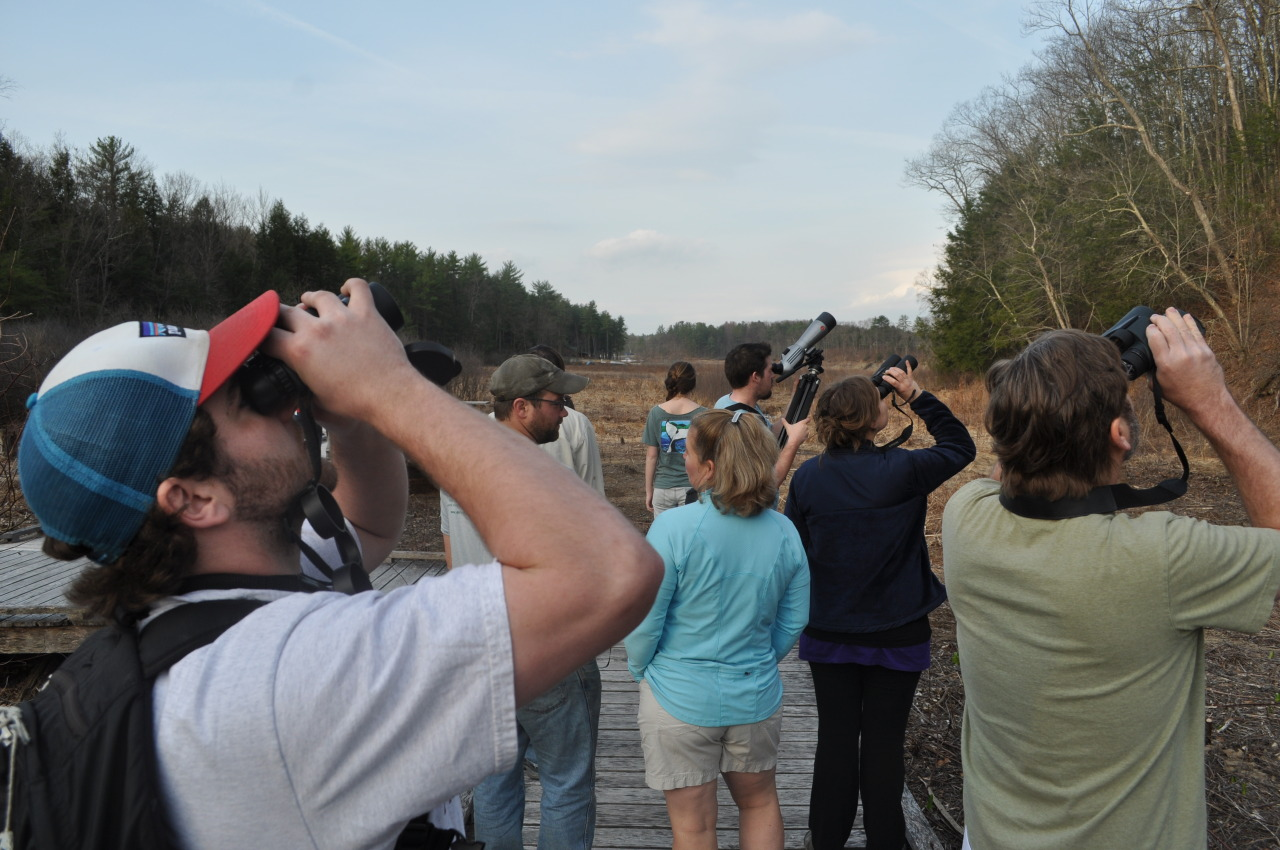 April 16, 2013 Migration Morning bird walks are a lot of fun.  Join us Wednesdays at 7:00 a.m. through May 15 this spring—all you need to bring is curiosity!