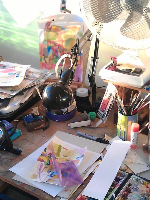 Art table….summer2012…