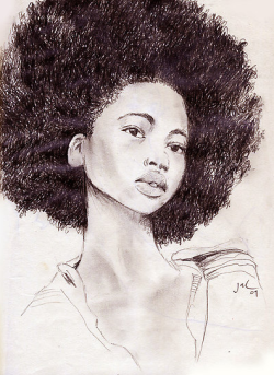 fuckyeablackart:  by jlaryeaVisit: Blkwomenart.com for more natural hair art!
