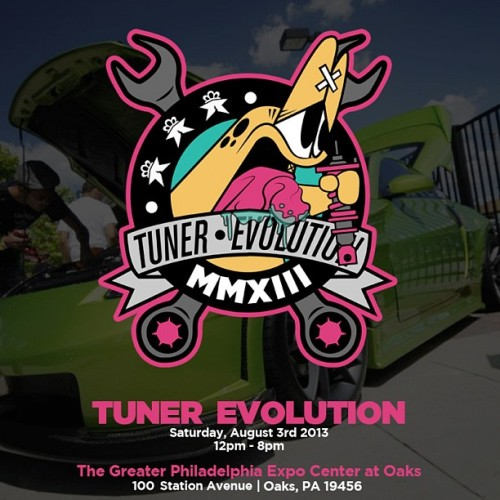 Fawx x Tuner Evolution.. Make sure you guys come out to the Tuner Evo show at the greater Philadelphia expo center at oaks on aug 3rd 2013!! 12pm - 8pm. @tunerevo @jmartinez21