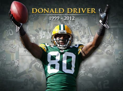 jstudz:  Donald Driver has officially announced retirement. Driver has announced that his against-all-odds career has come to an end, with an official retirement ceremony slated for next Wednesday, Feb. 6, in the Lambeau Field Atrium. He retires as one of the most beloved players in franchise history, for a number of reasons – his infectious smile, his humble upbringing and his countless contributions to the community, to name just a few. He also retires as one of the best receivers ever to don a Packers uniform. Here's an unofficial list of the franchise records he holds:   Most receptions (743)     Most receiving yards (10,137)     Most 1,000-yard seasons (seven, a record six of them consecutive from 2004-09)     Most 50-catch seasons (nine, also a consecutive record from 2002-10)     Most consecutive games with a reception (133)     Most receptions at Lambeau Field (363)     Most receiving yards at Lambeau Field (5,000)   Source