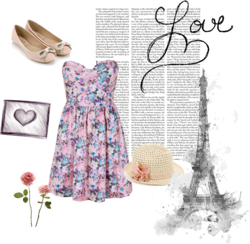 Romantic picnic in Paris by andreaf96 featuring boob dress