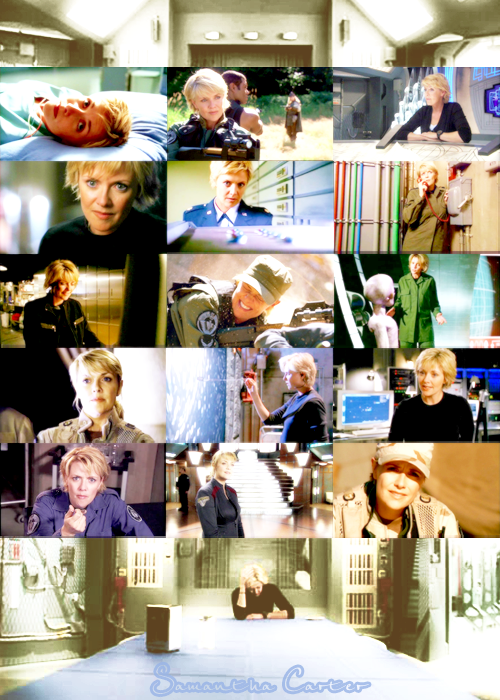 swannee:  fandom ate my brain meme Samantha Carter Brilliant and beautiful, a genius, a decorated military officer and lover of blue jello.