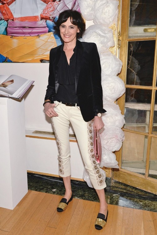 "womensweardaily:  Social Circle Roger Vivier brand ambassador Inès de la Fressange is racking up more fans for the label, thanks to her social media know-how. ""I opened the Twitter account for Roger Vivier and in just one day we had 1,000 followers. Can you imagine?"" she said. For More [above: Inès de la Fressange. Photo Courtesy of Roger Vivier]"