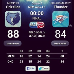 YESSSSSSSSS! ::ALL I DO IS WIN BLARES:: #GOGRIZZ