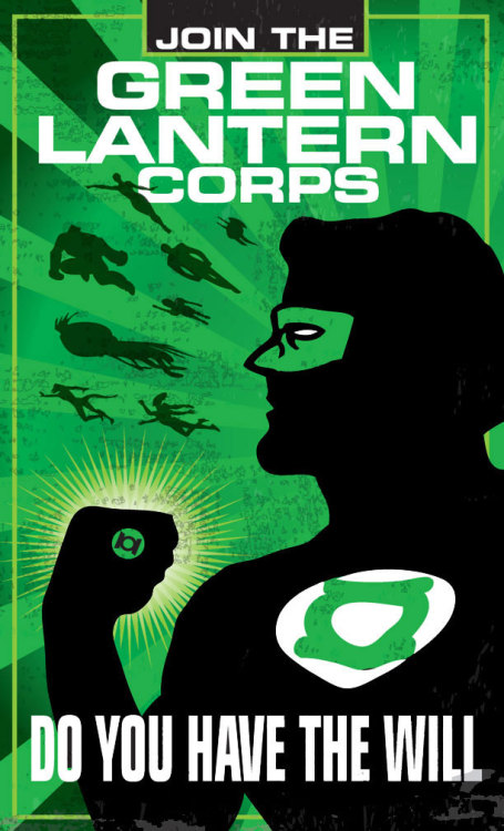 Lantern Corps Recruitment Posters by Heartattackjack