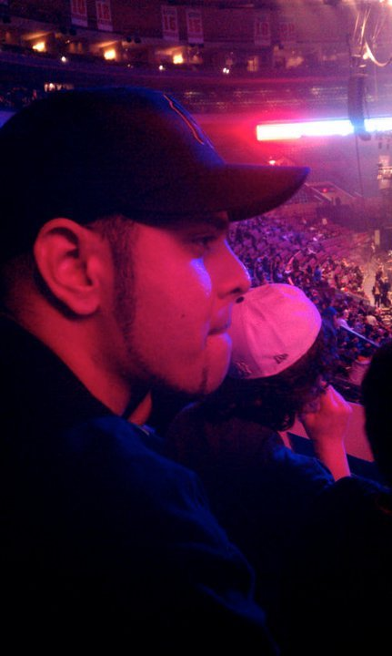 At a Linkin Park concert back in 2011. This was right before I got drunk lol .. Awesome show