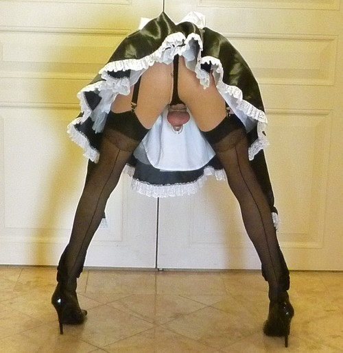 Caption sissy french maid