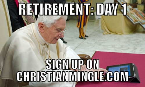 The pope on his first day not being the popehttp://proud-atheist.tumblr.com