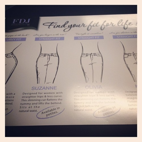 What's your fit?!? @FDJ_Jeans #mansfieldladiesday #fitclinic