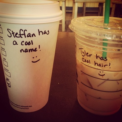 Aw. I love Starbucks. #aw #starbucks #coffee #cutenotes #aw