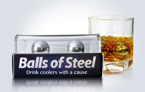 laughingsquid:  Balls of Steel, To Make Your Whiskey Cooler