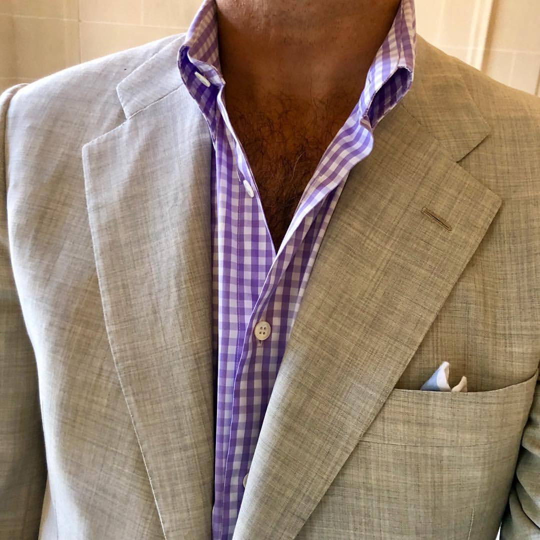 #kiton — wearing a light gray jacket is a bit of a sartorial conundrum, I'm curious to hear your views about gray jacket combinations that actually work, as I usually default to blue jeans with a gray jacket, but I suspect that there are other...