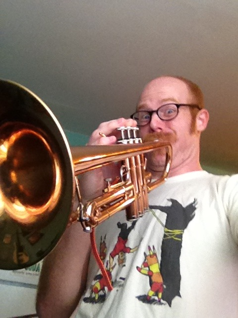 Thanks Caitlyn Cox for the trumpet. I will put it to use and eventually I'll teach HatchWorth how to play!