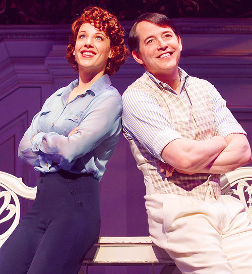 Jessie Mueller and Matthew Broderick in Nice Work if You Can Get It (2013).