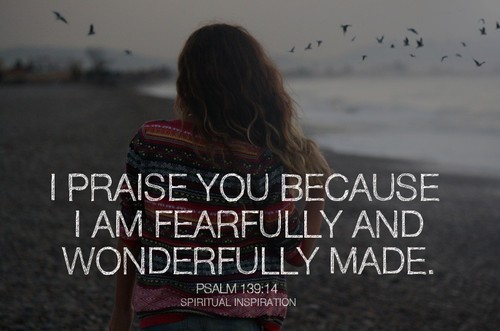 "spiritualinspiration:   ""I'm God's masterpiece. I'm wonderfully made. I'm talented. I'm original. God has given me everything that I need."" That's what David was saying in Psalm 139. He praised God for making him in an amazing way and declared that what God had done was wonderful. Is that how you started your day? Most people think they are being humble by putting themselves down. They say, ""Oh, I'm not that talented. It was no big deal."" But really, we should be bold like David and say, ""I'm amazing. I'm a masterpiece. God made me and He doesn't make junk! I am equipped, I am empowered, and I am amazing!"" Today, make the decision to stop putting yourself down; stop focusing on your flaws and comparing yourself to others. Your Creator says ""you are a masterpiece."" It's time to get in agreement with God and realize how much He loves you. It's time to realize how special you are. Make the shift by changing your words and start by saying what David said!"