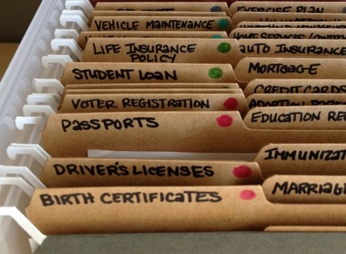 A good way of organizing important documents. THIS IS A MUST in our home because my husband hates handling paper works and his wife is quite forgetful.