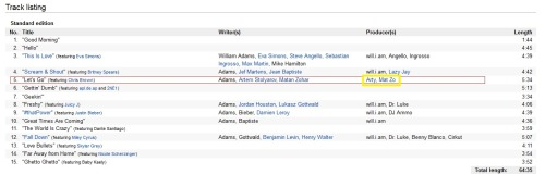 A screenshot of the wiki-tracklist from will.i.am's new artist album titled #willpower. Trance producers Arty & Mat Zo are listed here… except Anjunabeats owns the copyright to the sampled song 'Rebound' and there is no credit anywhere else on this wiki or the youtube video for this song to Arty or Mat Zo anywhere. Just further proof that they knew they were stealing and failed to ask for permission.