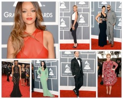The 55th Grammy Red Carpet At A Glance:  Rihanna, Beyonce, Adele, Justin Timberlake, Katy Perry, Kelly Rowland.. http://mrsgrapevine.com/2013/02/55th-grammy-awards-red-carpet-photos-beyonce-alicia-keys-adele-rihanna-katy-perry-justin-timberlake/