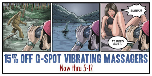 15% Off All G-Spot Vibrating Massagers! This Weekend Only! Now Through May 12th only at SheVibe.com