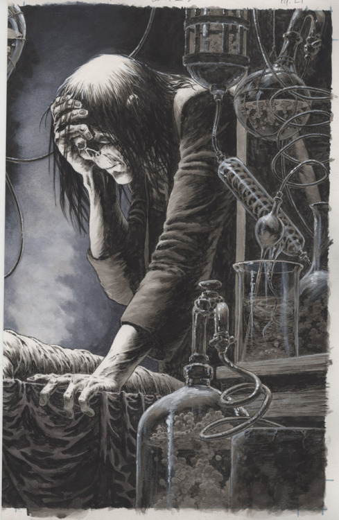 It's been awhile since I showed any art from Frankenstein Alive, Alive. Here's a new page from the upcoming issue #3.