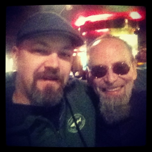 Really bad pic of me with my friend Bill Salmon from @diamondclubtattoo is SF. #nyctattooconvention is always a great time with great people!  (at Roseland Ballroom)