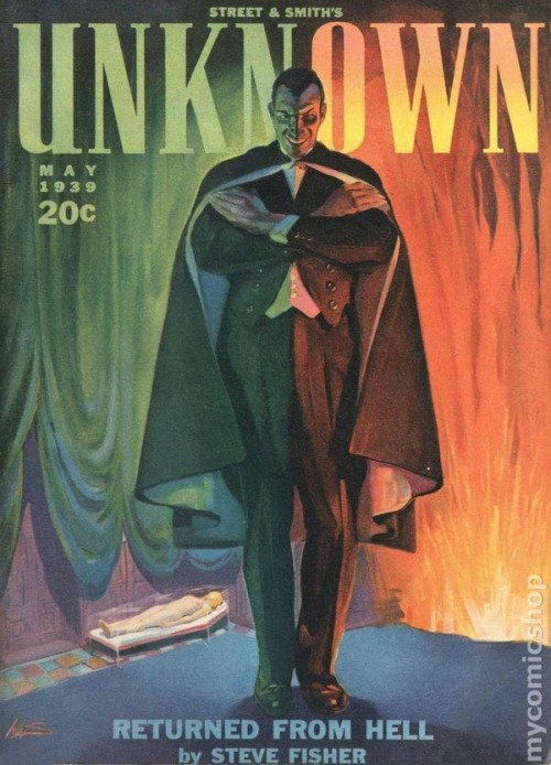 twofistedpulp:  Unknown magazine. Covers by H.W. Scott.