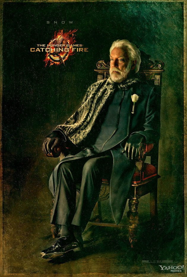 Here's the final Capitol Portrait for Catching Fire featuring Donald Sutherland as President Snow.  In case you missed it, click here to see the entire collection.