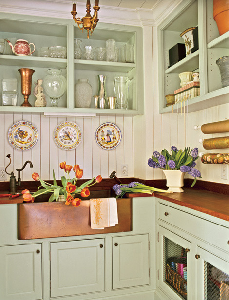 a delicate country kitchen
