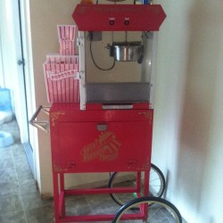 My vintage popcorn machine #vintage #red #popcorn #kitchen
