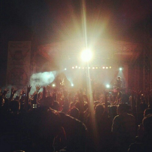 croozcloth:  THIRTEEN kickin the stage, closing the MUSI FEST. Thank you Palembang, you guys are awesome!! Repost from @thirteenjkt