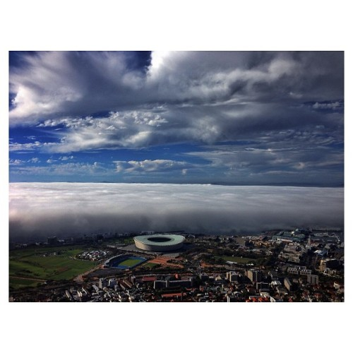 Cape Town, South Africa | April 14, 2013 - A cold front coming off the Atlantic Ocean forms a cloud wall. Photo by Charlie Shoemaker @charlieshoemaker #capetown #southafrica #greenpoint