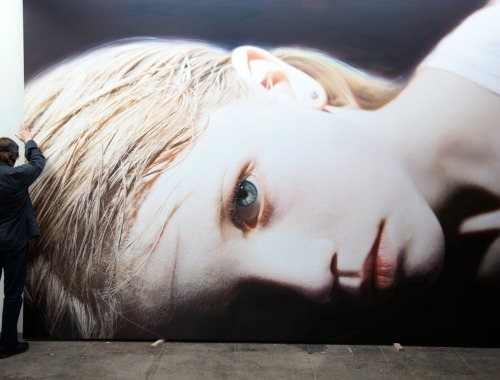 jonyorkblog:  Gottfried HelnweinHelnwein with Head of a Child 14 (Anna), 2012