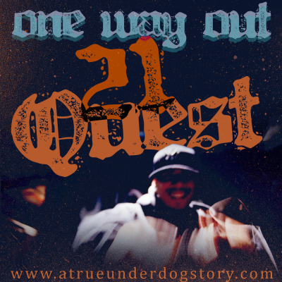 "One Way Out 21 Quest Artwork by Ghryzly Atoms Photography by Alberto Vargas  Listen to it on soundcloud TOMA TUESDAYS!!!! From the pits of frustration itself, ""One Way Out"" delves into the mind of a youth trying to come to terms with the growing world around him, only to realize every move he makes puts him deeper into the hole he's trapped in. Download it here if you haven't heard www.ATrueUnderdogStory.com"