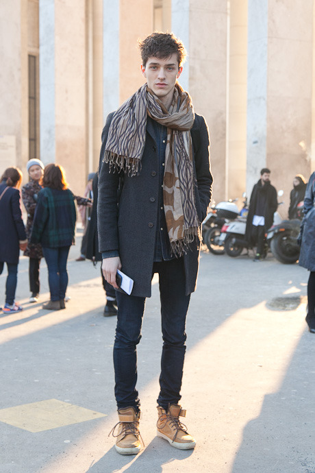 details:  Street Style: Paris Fashion Week, Menswear Fall 2013